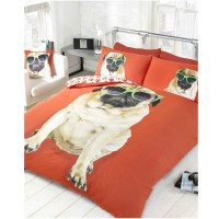 Percy Pug Double Duvet Set