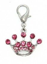 Princess Pink Crown Charm