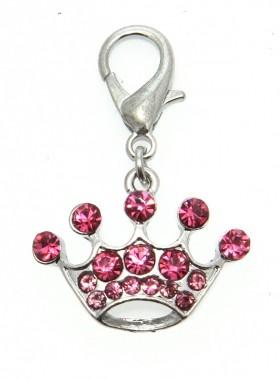 Princess Pink Crown Charm