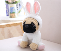 White Rabbit Pug Plush Toy