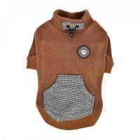 Puppia  Fleece Lined Rezso Caramel Sweater