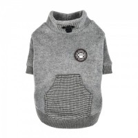 Puppia  Fleece Lined Rezso Grey Sweater