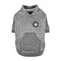 Puppia  Fleece Lined Rezso Grey Sweater