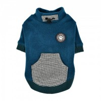 Puppia  Fleece Lined Rezso Teal Sweater