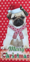 Pug Christmas Money & Voucher Card