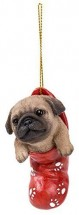 Christmas Stocking Pug Decoration