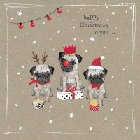 Sweet Pug Christmas Card