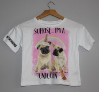 Girls Pug Unicorn T Shirt