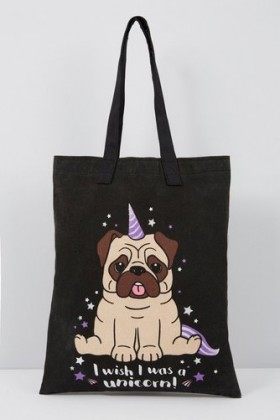 Unicorn Pug Tote Bag