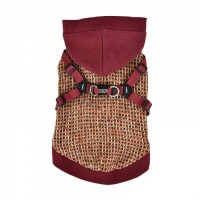 Puppia Vale Fleece Lined Burgandy Sweater