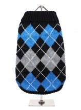 URBAN PUP BLACK & BLUE ARGYLE SWEATER