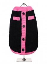 URBAN PUP BLACK & PINK MOD SWEATER