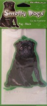 Black Pug Car Air Freshener