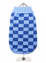 URBAN PUP BLUE CHECK SWEATER