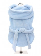 COSY BLUE FLUFFY BATHROBE