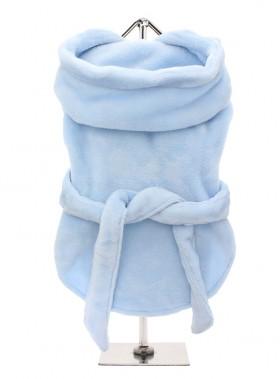 COSY BLUE FLUFFY BATHROBE