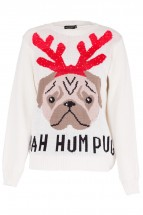 Cute Pug  Ladies Christmas Sweater