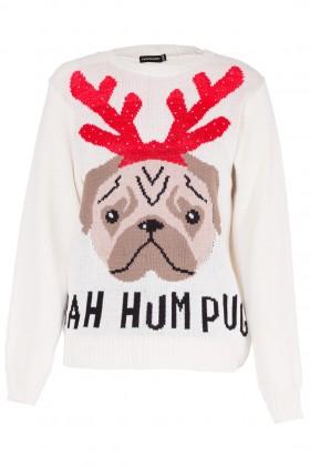 Cute Pug  Ladies Christmas Sweater