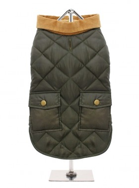 Forest Green Quilted Coat