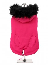 Hot Pink Parka Coat