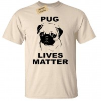 Unisex Pug Lives Matter T Shirt (Available in 6 colours)