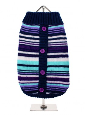 URBAN PUP PURPLE STRIPED MOD SWEATER