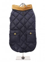 Navy Quilted Coat