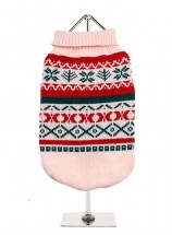 URBAN PUP OYSTER PINK  FAIR ISLE SWEATER