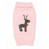 Pink Reindeer Christmas Sweater