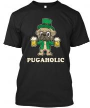 Unisex Funny Pugaholic T Shirt