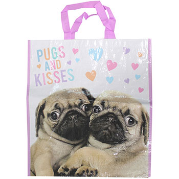 Extra Large Pug Puppy Shopper Bag | I Love Pugs