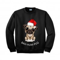 Festive Pug Christmas Unisex Sweater (Available in 4 colours)