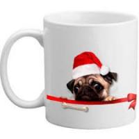 Pug Christmas Santa Mug