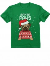 Kids Pugs Christmas T Shirt (Available in 8 colours)