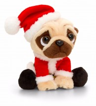 Pugsley Santa Plush Toy