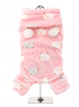 COSY PINK  FLEECE ONESIE
