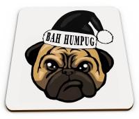 Funny Pug Christmas Coaster