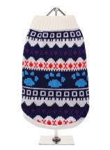 URBAN PUP WHITE FAIR ISLE SWEATER