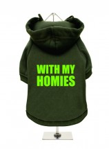 With My Homies Fleece Lined Hoodie (Available in 3 colours )