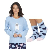 Ladies Cute Pj Set & Socks