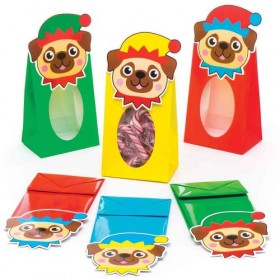 Pug Christmas Candy Cane Sweet Bags (Available in 4 colours)