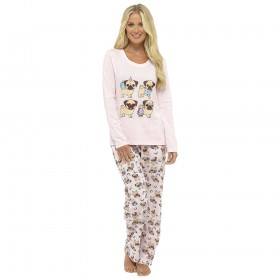 Ladies Pug Life PJ Set