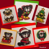Pug Single Handmade Decorations (17 designs)