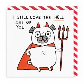 Funny Pug Gemma Correll Blank Card