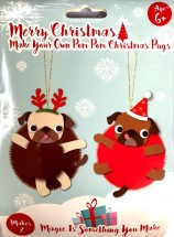 Make Your Own Pug Christmas Decoration