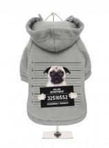 Pug Mug Shot Fleece Lined Hoodies (Available in 8 colours)