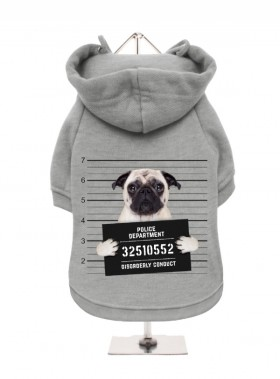 Pug Mug Shot Fleece Lined Hoodies (Available in 8 colours)