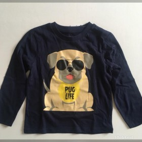 Baby/Kids Long Sleeved Pug Life T Shirt