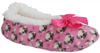 Pink Cute Fluffy Ladies Pug Slippers