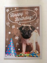 Pug Puppy Birthday Card